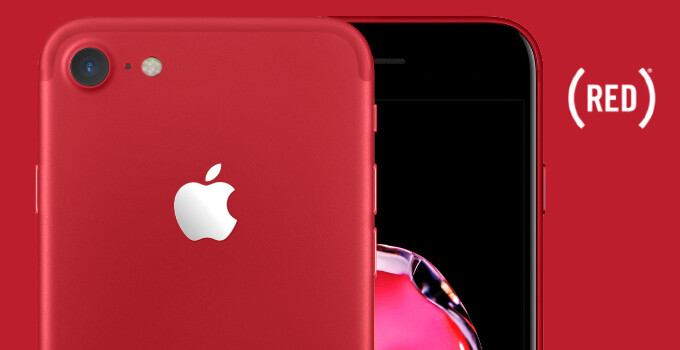 This is how the new red iPhone 7 would look with a black front, and we wish it were real