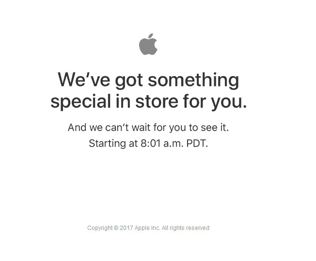 Apple will add the newly introduced devices to the Apple Store at 11:01 Eastern Daylight Time
