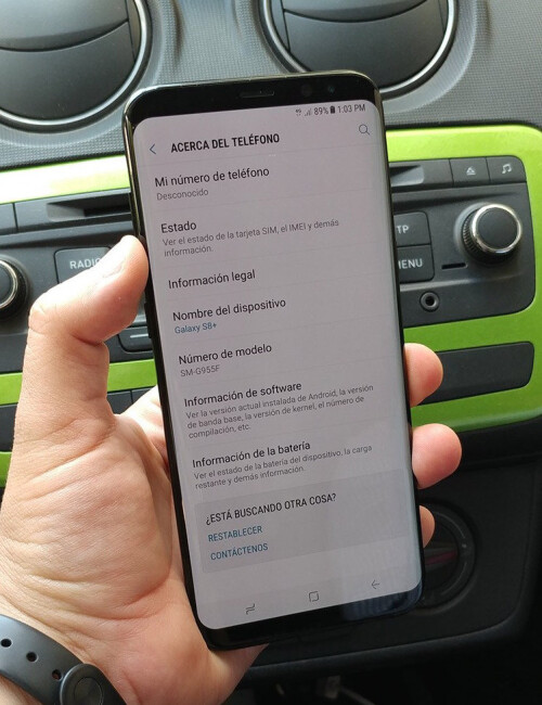 Galaxy S8 real-life images