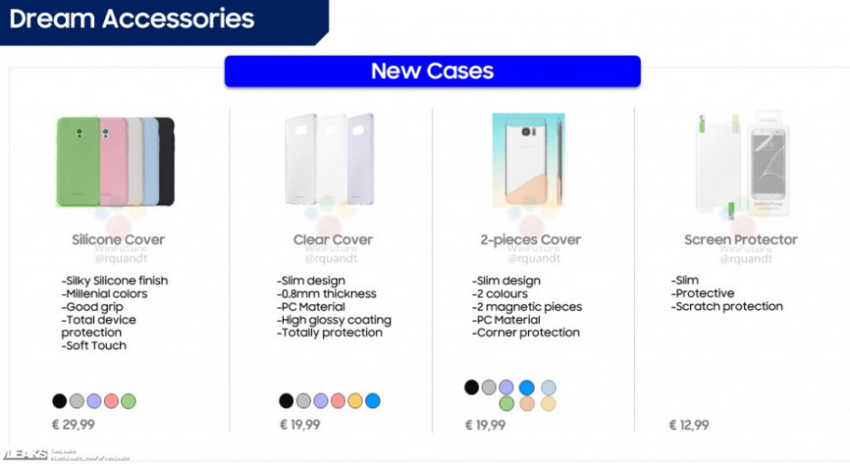 Samsung Galaxy S8 accessories and their prices get leaked ahead of official reveal