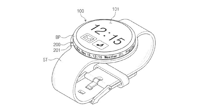 Samsung's latest smartwatch patent puts a screen on the rotary dial