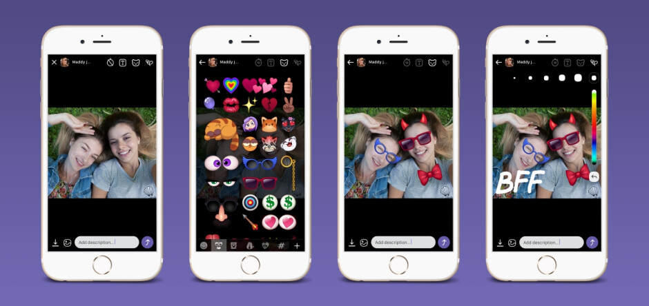 A glimpse at the kind of stuff you might start receiving after the update - Viber now lets you slap stickers on photos and send them to your unsuspecting friends