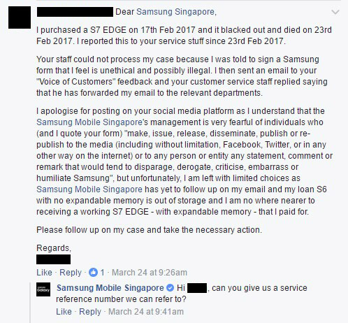 Samsung refuses to exchange a faulty S7 edge unless the owner ...