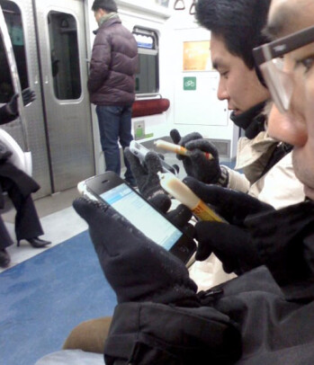 iPhone owners in South Korea are using a stick of meat as a stylus