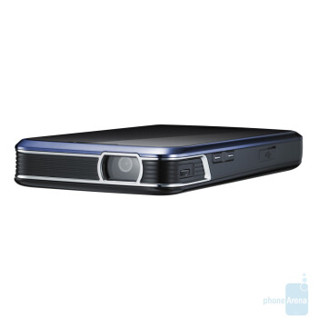 The Samsung I8520 has a build-in projector