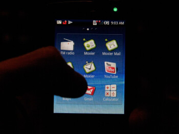 The interface of the two mini versions of Xperia X10