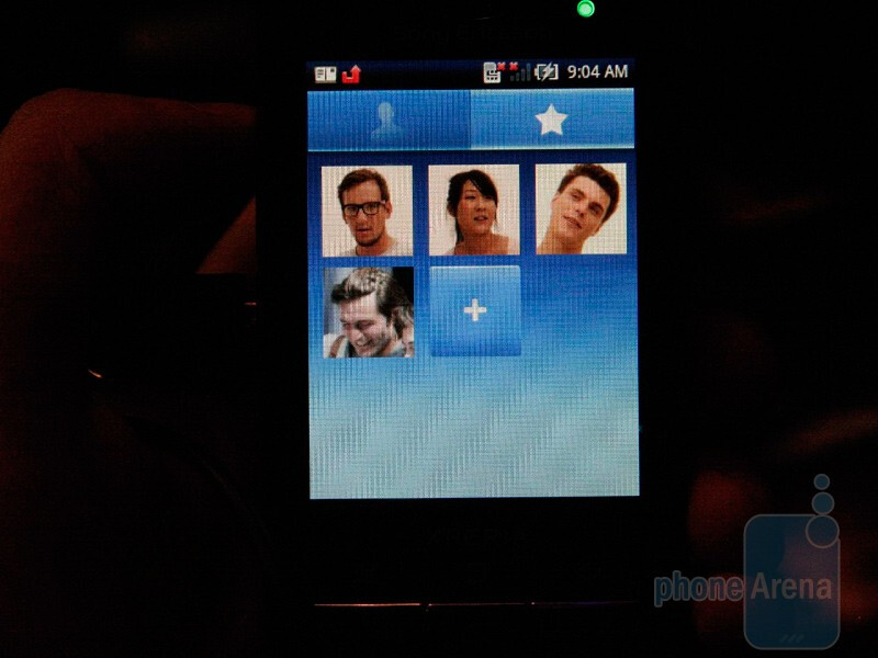 The interface of the two mini versions of Xperia X10 - MWC 2010: Live Report