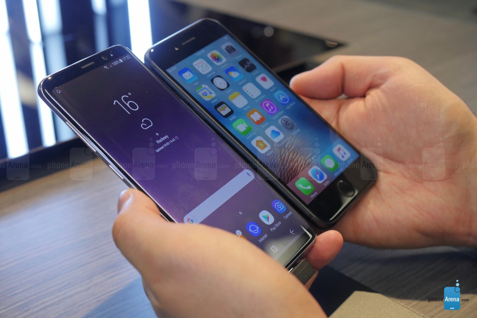 samsung s8 vs iphone x phonearena