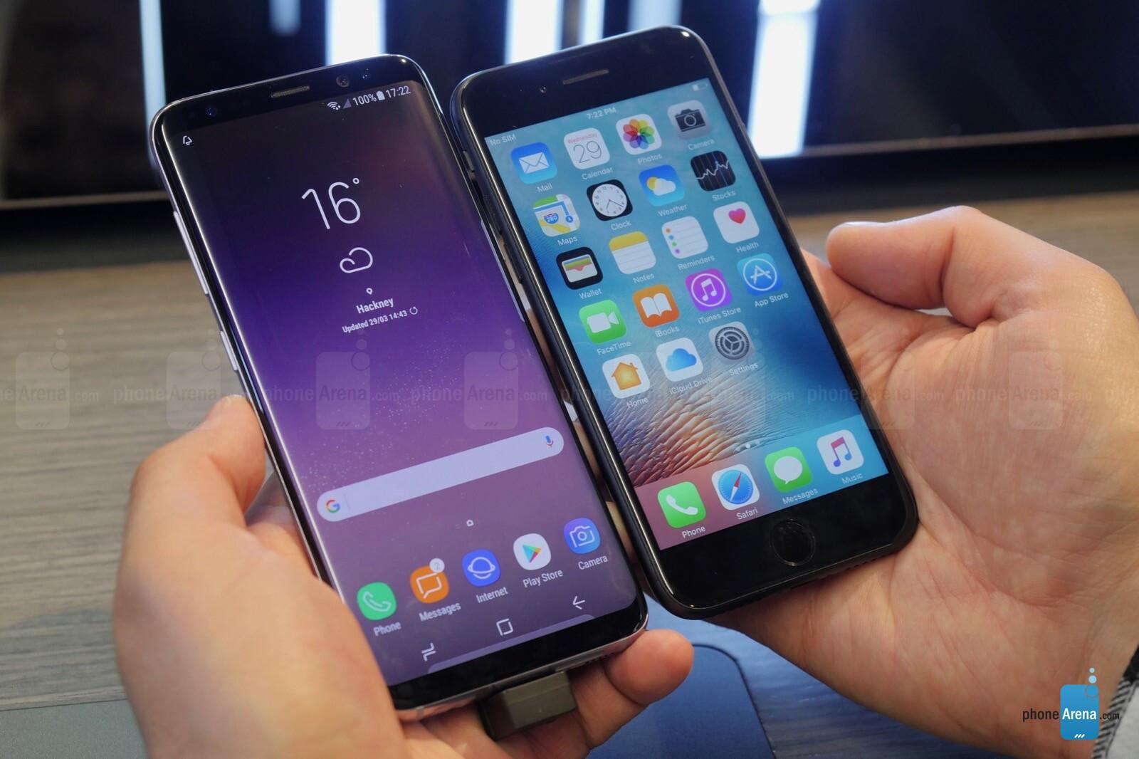 galaxy s8 vergleich iphone 7