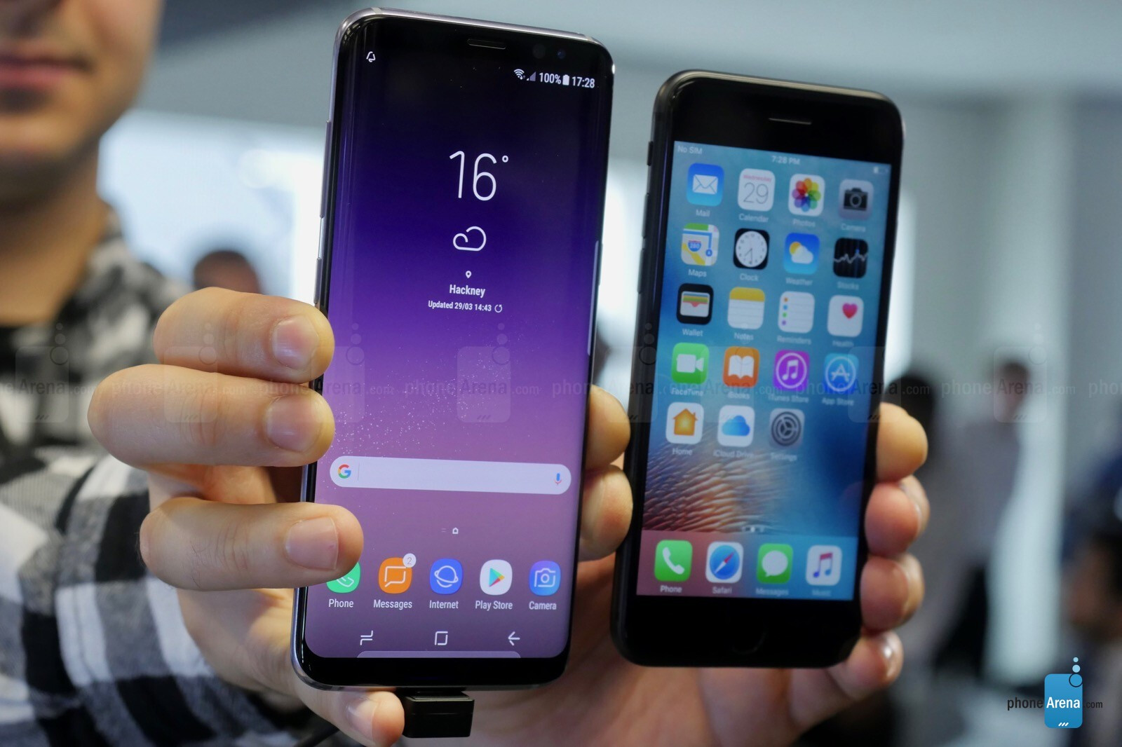SAMSUNG S8 VS S8+ IPHONE 7