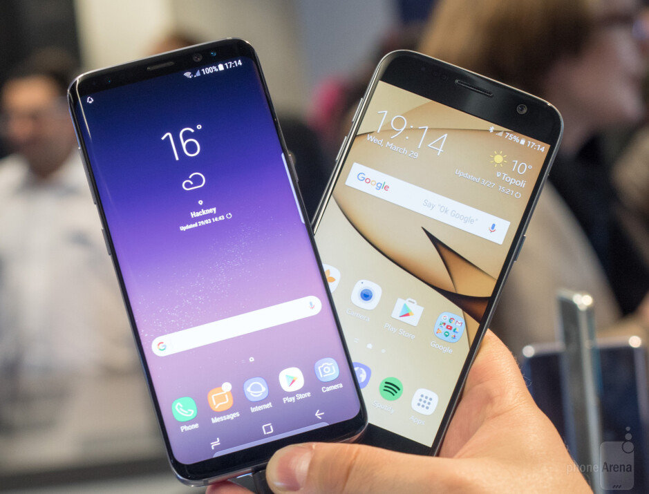 The Galaxy S8 fits a taller display in an equally wide body - Samsung Galaxy S8 vs Samsung Galaxy S7: what's new, anyway?