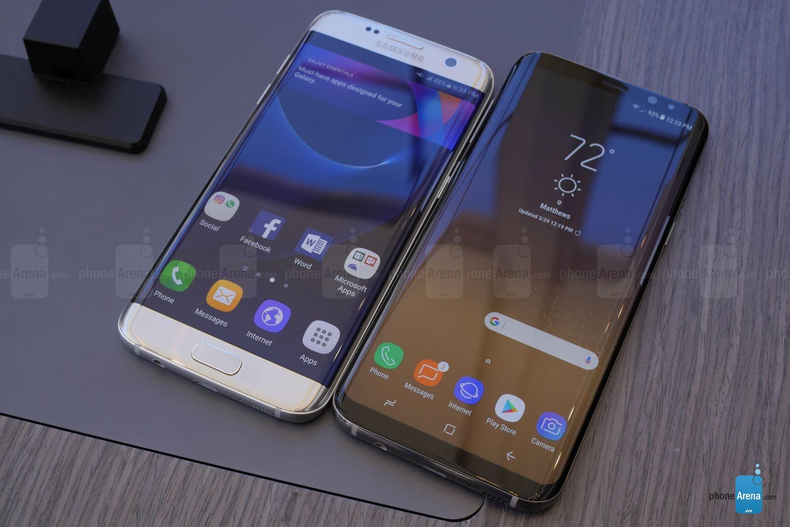 Samsung Galaxy S8 Vs Galaxy S7 Edge The Big Screen