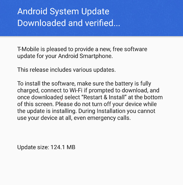 T-Mobile releases first update for the LG G6, change-log is mysteriously absent