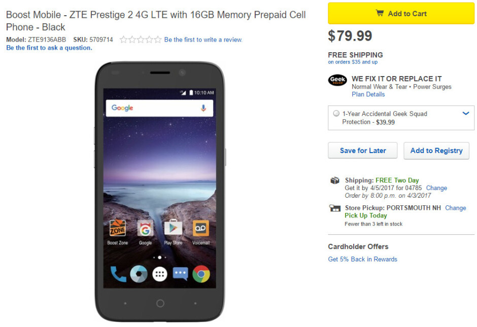 Affordable ZTE Prestige 2 goes on sale at Boost and Virgin Mobile