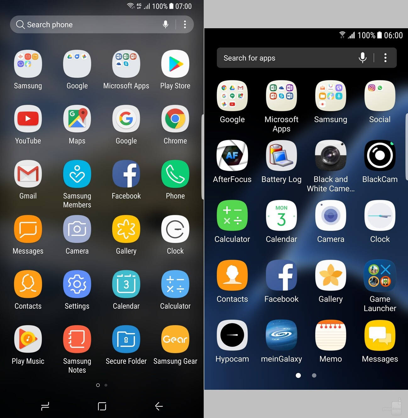 App Drawer Galaxy S8+ (left) Vs S7 Edge (right) More Views How Samsung Galaxy  S7 Clear Cache