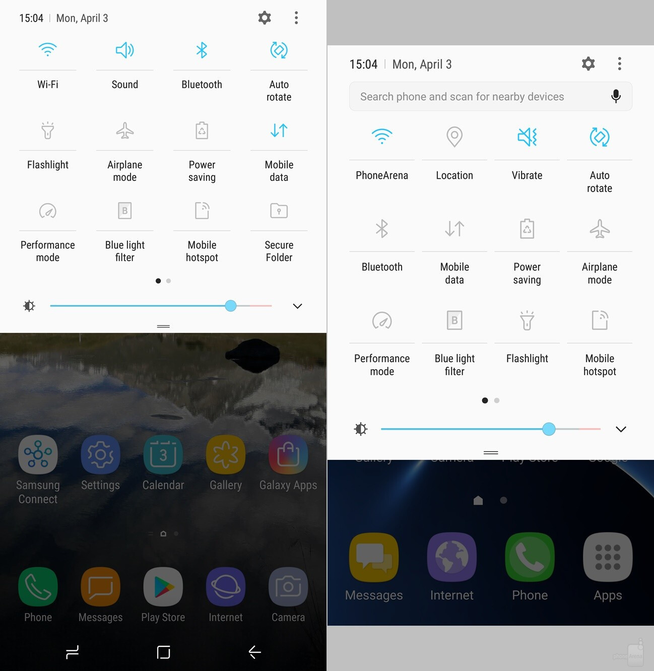 Galaxy S8+ vs Galaxy S7 edge interface comparison: here's