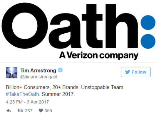 AOL and Yahoo are combining to become Oath - Verizon combines Yahoo and AOL to form a new division called Oath (UPDATE)