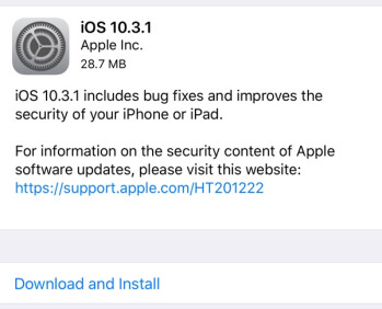 Apple releases iOS 10.3.1: See what's included in the new update