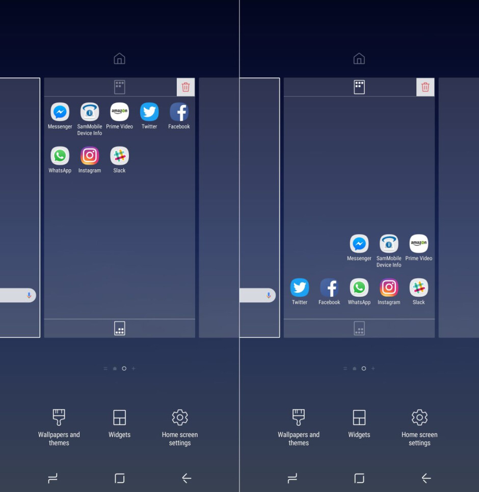 How to rearrange the Galaxy S8 icons with a tap for easier one-handed use