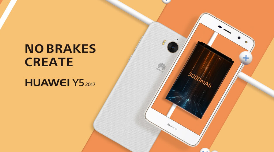 Huawei Y5 2017 quietly unveiled: stylish curves, but unimpressive specs