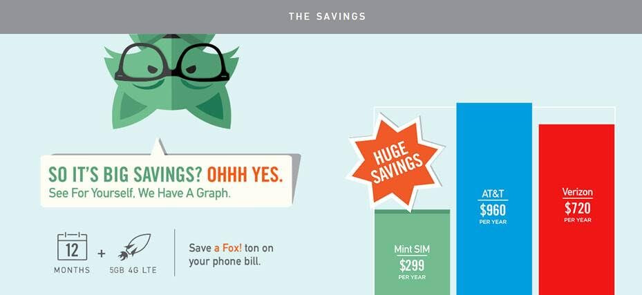 Prepaid promotion offering unlimited talk, text, and data – a whole year for $159 on Mint SIM