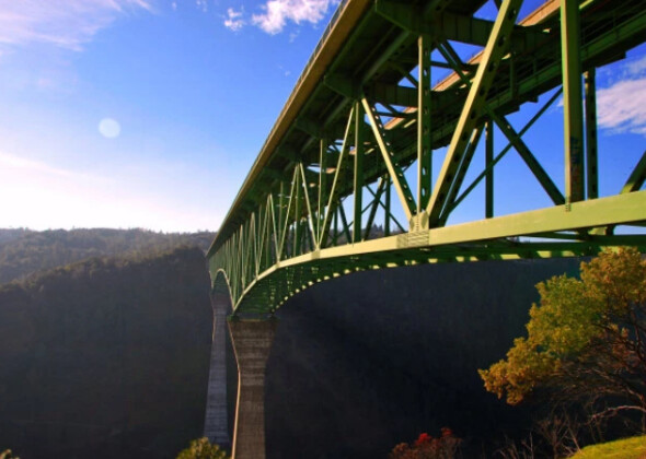 Foresthill Bridge where an unidentified woman fell 60-feet while trying to take a selfie - Woman falls 60-feet off bridge while taking a selfie