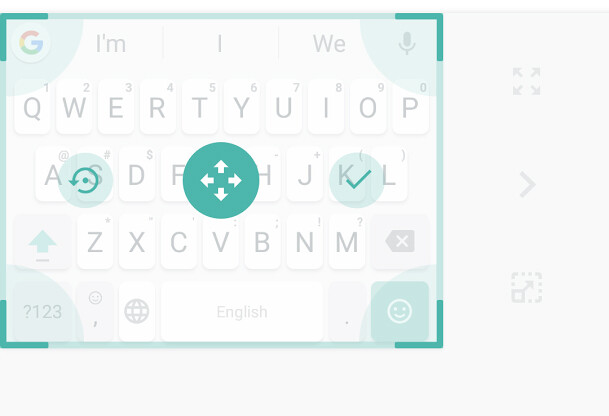 You can drag around the keyboard quite a bit. If you want to reset its position, just tap the 'Undo' button on the left - Gboard receives major update that adds cursor control, edit buttons, adjustable size, and more