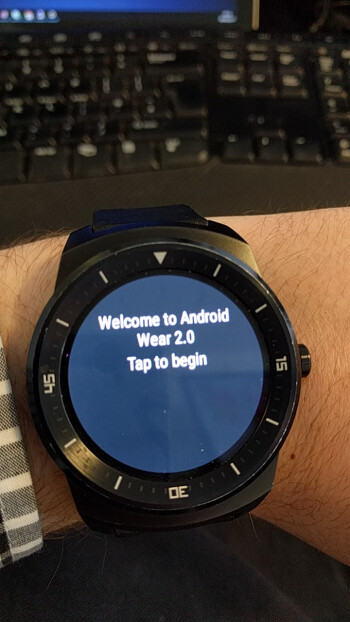 Reddit user smudger1000's LG G Watch R running Wear 2.0