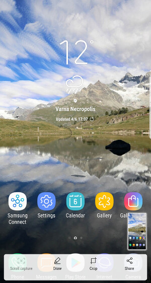 Screenshot options on the Galaxy S8 - How to take a screenshot on the Samsung Galaxy S8