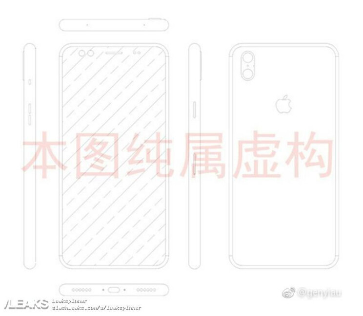 Sketch allegedly shows the Apple iPhone 8 10th anniversary model - Alleged Apple iPhone 8 schematic shows vertical dual camera setup on back (Update)