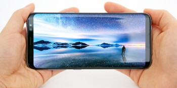 The Galaxy S8's display can supposedly get scorching-bright!