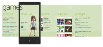 Windows Phone 7 Series Games hub