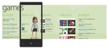 Windows Phone 7 Series Games hub