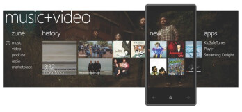 Windows Phone 7 Series Music+Video hub