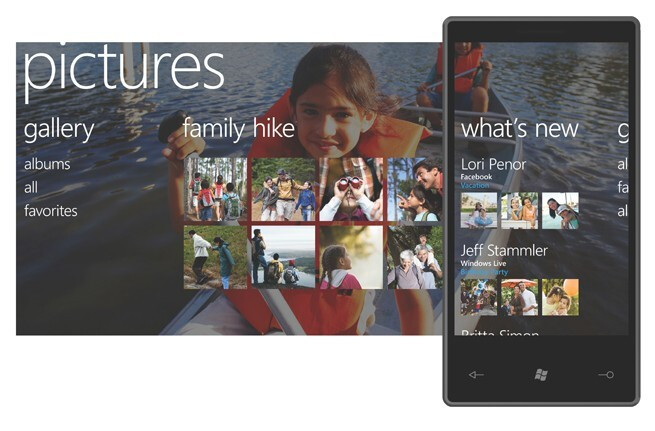 Windows Phone 7 Series Pictures hub - Microsoft Windows Phone 7 Series announced