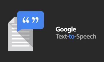 google speak text