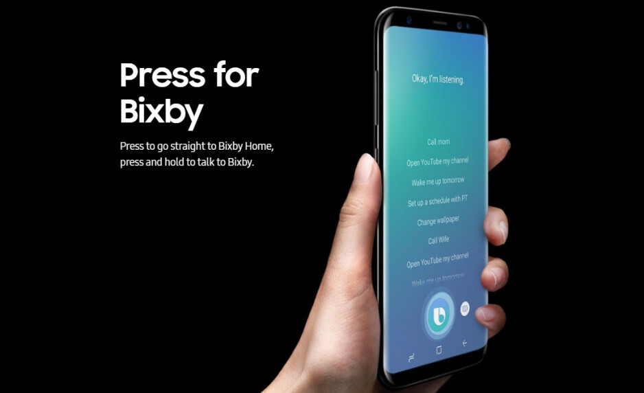 At launch, Samsung Galaxy S8 and S8+ will feature a crippled Bixby