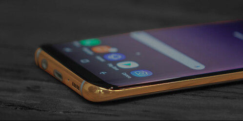Luxury, gold-plated Galaxy S8