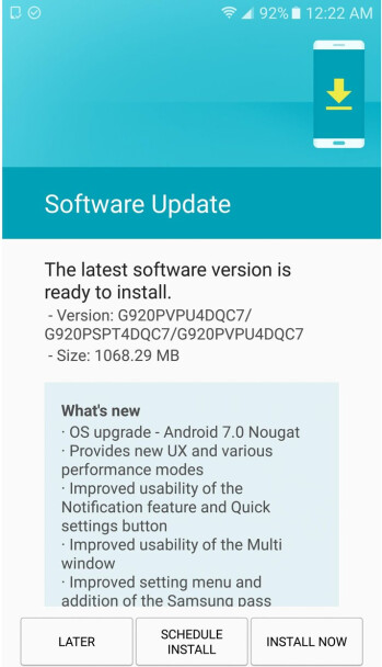 Android 7.0 Nougat for Samsung Galaxy S6 and S6 edge goes live at Sprint