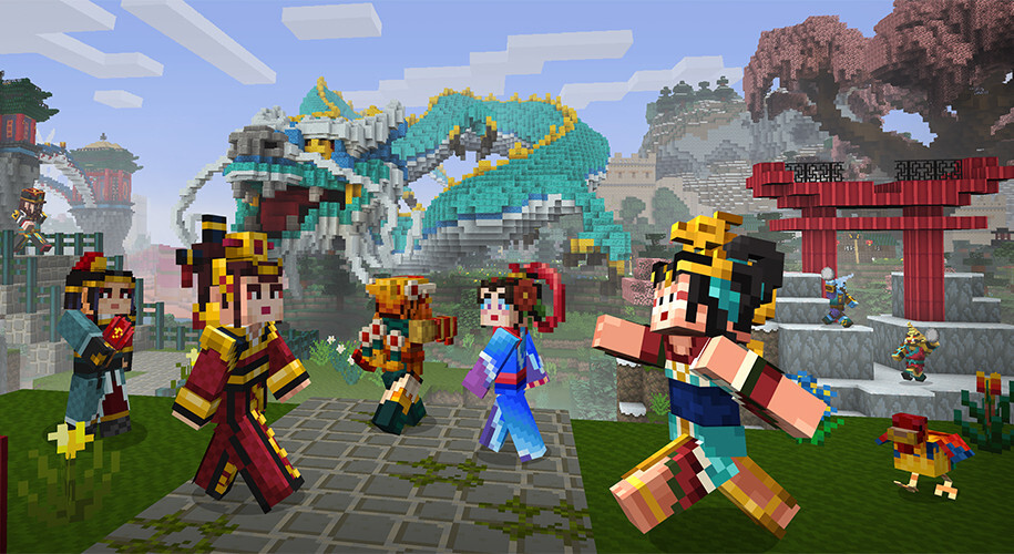 Minecraft Pocket Edition's latest update brings giant pandas, dragons