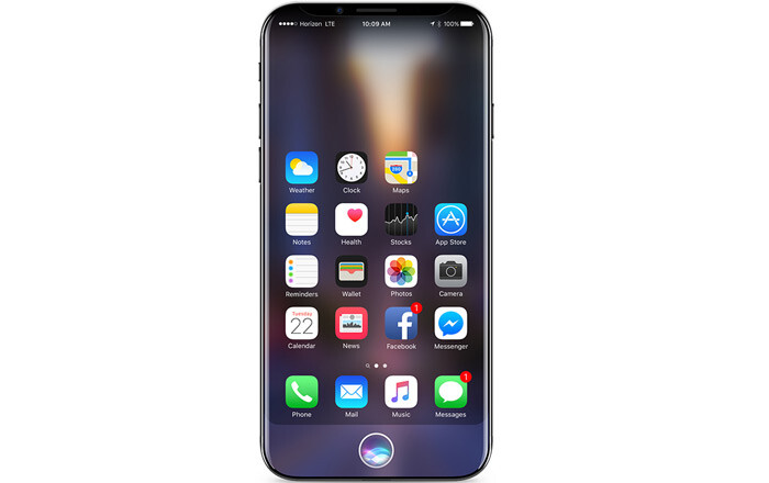 """iPhone X/8 concept image - All three new iPhones to have 3GB RAM, deluxe iPhone to come with """"two packs of batteries"""", according to analyst"""
