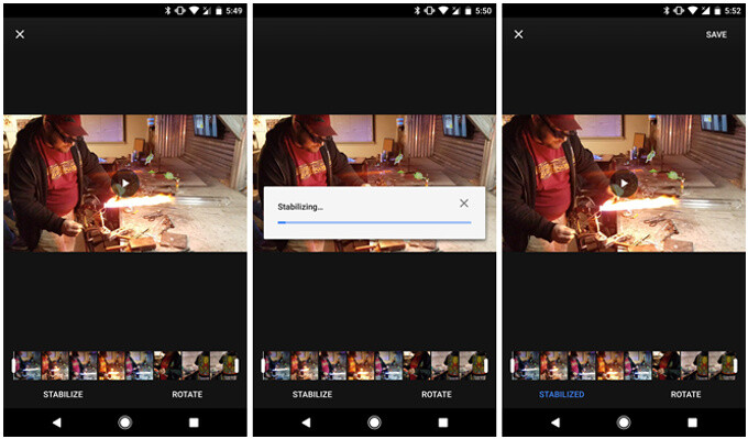Google Photos applies stabilization over an earlier recorded video - Google Photos latest update brings impressive video stabilization to any phone post-capture