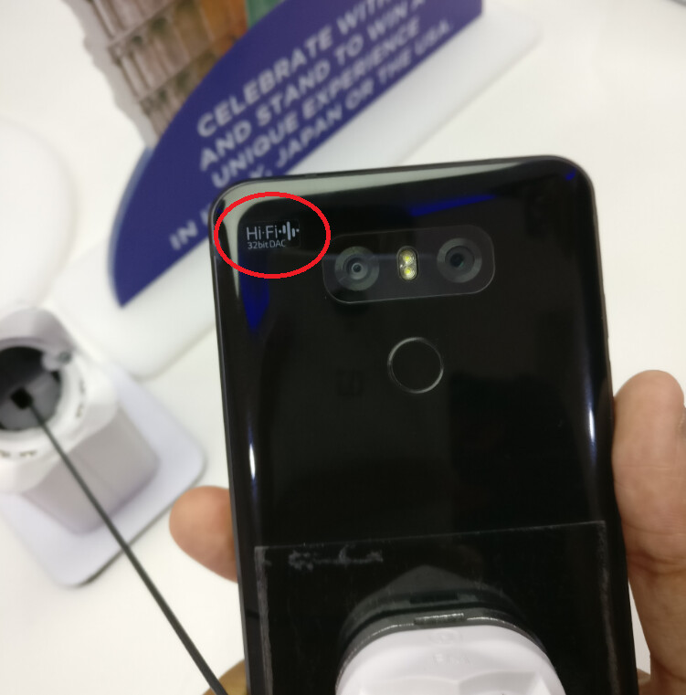 The label on the back of the phone differentiates it from the regular LG G6