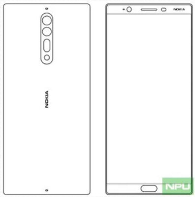 Sketch allegedly shows the Nokia 8