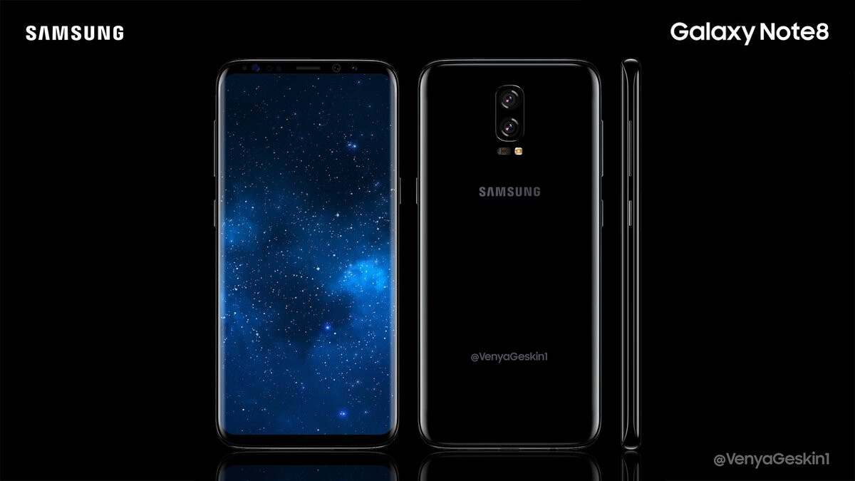 samsung galaxy note 8 concept images envision a striking 6. Black Bedroom Furniture Sets. Home Design Ideas