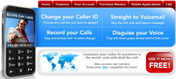 Mobile App that spoofs CallerID and your voice