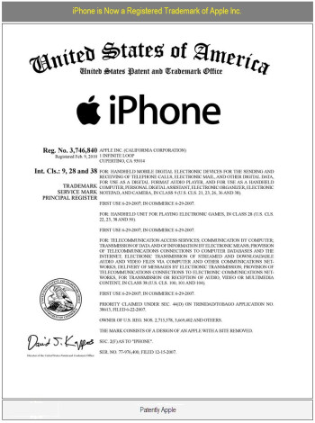 After 3 long years, Apple takes hold of the iPhone Trademark