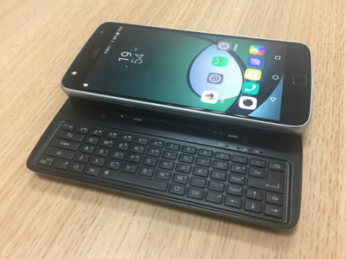 Prototype of the physical QWERTY keyboard for the Moto Z""