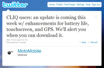 Motorola promises CLIQ upgrade this week; DROID 2.1 upgrade for end of month with Flash?