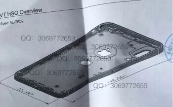 Purported iPhone 8 schematic drawing shows where the Touch ID sensor may reside